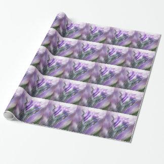 Papel de regalo púrpura del arte de las calas