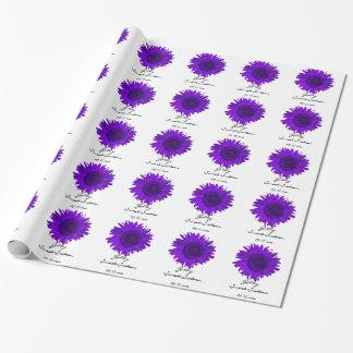 Papel de regalo púrpura personalizado del dulce 16