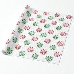 Papel de regalo rayado rojo y verde de los