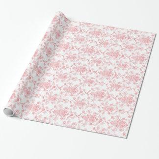 Papel de regalo rosado del damasco