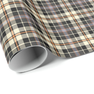 Papel de regalo rústico de la tela escocesa de los