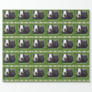 Papel de regalo único del navidad de Skye Terrier