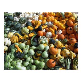 Papel de Scrapbooking de las calabazas del otoño d Plantilla De Membrete
