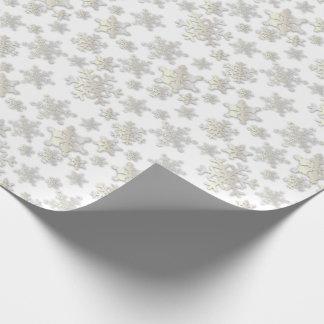 Papel de Sombra-Embalaje del descenso de los copos Papel De Regalo