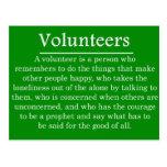 Papel de voluntarios postales