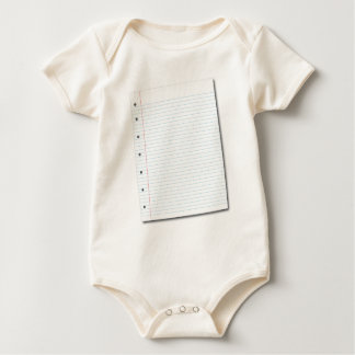 papel del cuaderno body de bebé