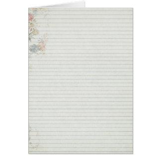 Papel del cuaderno con la flor felicitacion