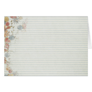Papel del cuaderno con la flor felicitación