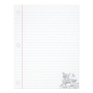 Papel del cuaderno de la fantasía del grifo del vi plantilla de membrete