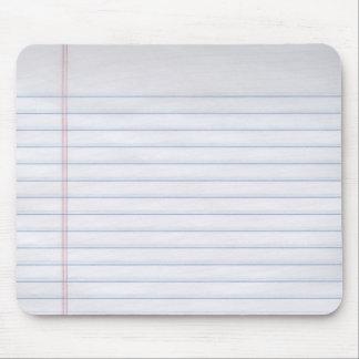 Papel del cuaderno alfombrillas de raton