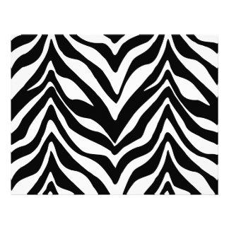 Papel del fiesta del estampado de zebra membretes personalizados