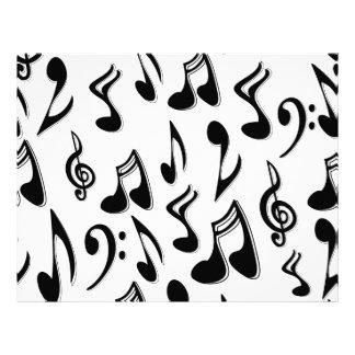 Papel del libro de recuerdos de las notas musicale plantilla de membrete