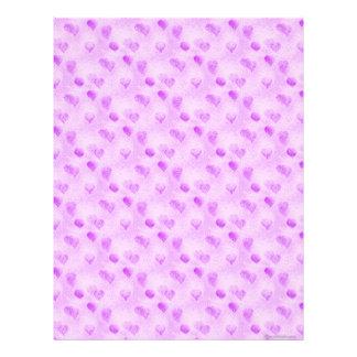 Papel del libro de recuerdos de Purple Heart Membrete A Diseño