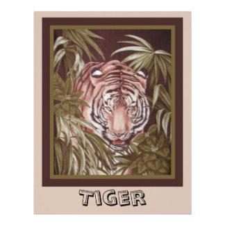 Papel del libro de recuerdos del tigre membrete