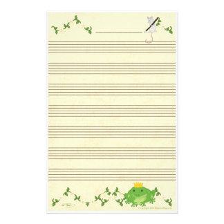Papel del manuscrito de la música del príncipe y d papelería de diseño
