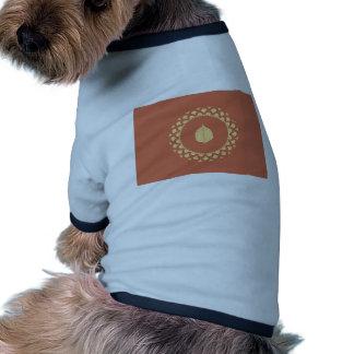 Papel del oro del otoño camisa de perrito