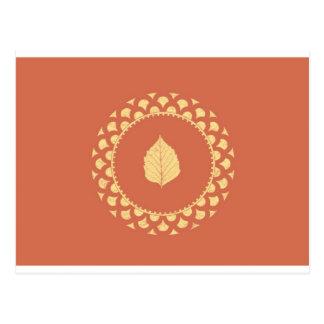 Papel del oro del otoño tarjetas postales