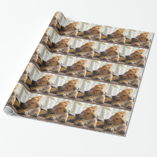 Papel del perrito papel de regalo