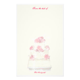¡Papel del personalizado del pastel de bodas! Papeleria Personalizada