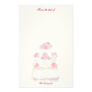 ¡Papel del personalizado del pastel de bodas! Papeleria