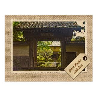 Papel del vintage del templo de Kamakura Japón Ken Tarjetas Postales