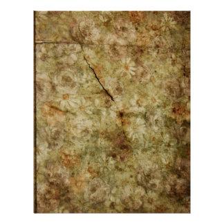 Papel descolorado del libro de recuerdos del model plantillas de membrete