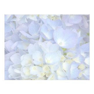 Papel en blanco del Hydrangea del programa azul Plantillas De Membrete