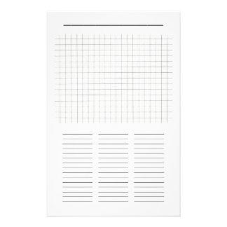Papel en blanco del rompecabezas de la búsqueda de papelería personalizada