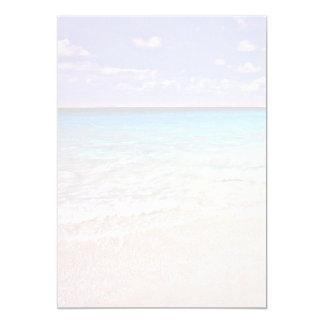 Papel en blanco escénico tropical del horizonte invitaciones personalizada
