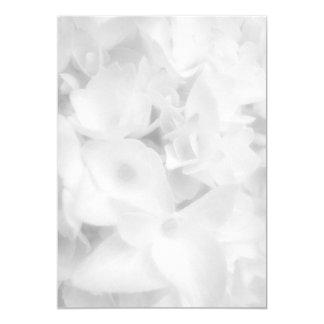 """Papel en blanco floral blanco del programa de la invitación 5"""" x 7"""""""