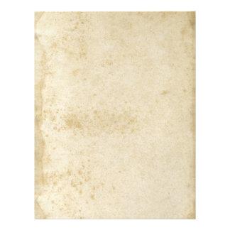 Papel en blanco manchado pasado de moda membrete