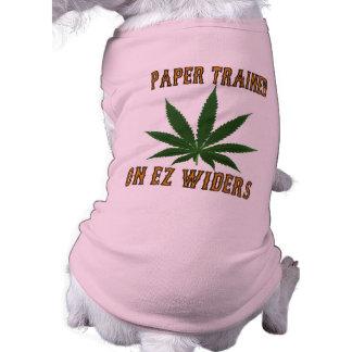 Papel entrenado en EZ Widers. Camiseta Sin Mangas Para Perro