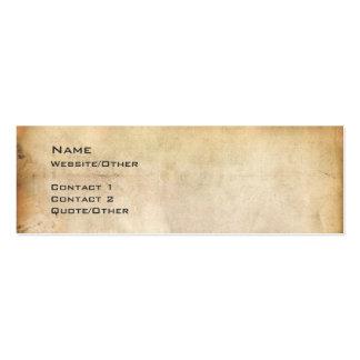 Papel envejecido plantilla de tarjeta de visita
