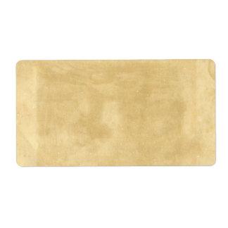 Papel envejecido vintage en blanco etiquetas de envío