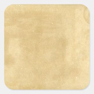 Papel envejecido vintage en blanco pegatina cuadrada