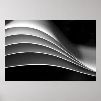 Papel, extracto negro y blanco de una diversa visi póster