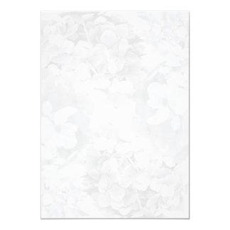 """Papel floral de la fan del programa del Hydrangea Invitación 5"""" X 7"""""""