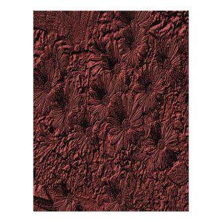 Papel floral grabado en relieve del libro de recue membrete
