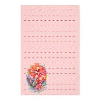 Papel floralwedding exótico de los efectos de escr papelería personalizada