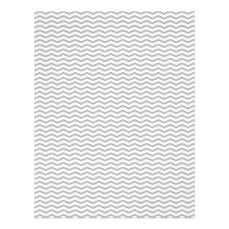 Papel gris de Chevron/del libro de recuerdos del z Tarjetones