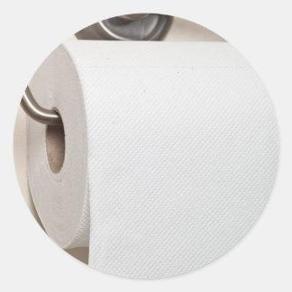 Papel higiénico pegatina redonda