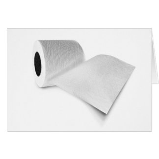 Papel higiénico tarjeta