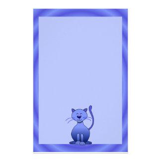 Papel lindo azul sonriente feliz de los efectos de papelería