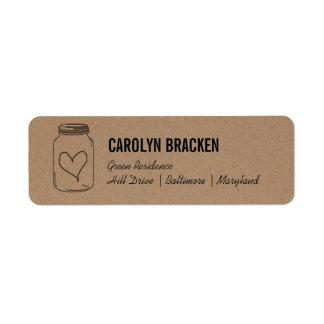 Papel lindo rústico de Kraft Brown del corazón del Etiqueta De Remite
