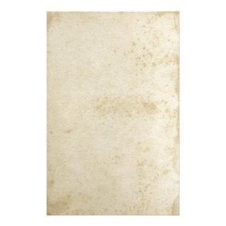 Papel manchado antigüedad de los efectos de papelería