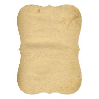 """Papel manchado antigüedad en blanco bonita de los invitación 5"""" x 7"""""""