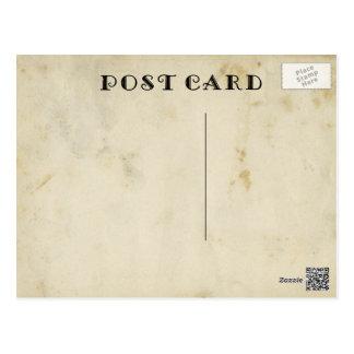 Papel manchado envejecido antigüedad en blanco tarjetas postales
