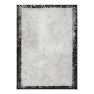 """Papel manchado envejecido gris oscuro del vintage invitación 4.5"""" x 6.25"""""""