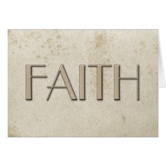 Papel manchado vintage simple de la fe tarjeta pequeña