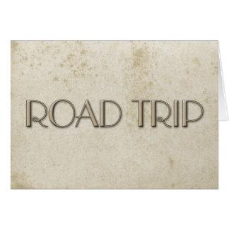 Papel manchado vintage simple del viaje por tarjeta pequeña